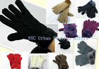 New Women Winter Warm Fur Lining Gloves/Thick Knitted Full Finger Gloves/Mittens