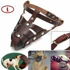 S M L Adjustable Leather anti-Bite Mouth Mesh Muzzle Basket Cover For Pet Dog