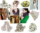 Fashion Women Lady Butterfly Print Neck Shawl Scarf Scarves Warm Wrap Stole Gift