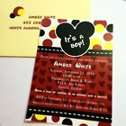 Mickey Mouse Baby Shower Invitations-Set-of-10-All-Wording-Customized