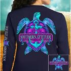 Country Life Southern Attitude Turtle Anchor Bow Long Sleeve Bright T Shirt