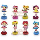 8pcs Lalaloospy PVC doll toy figure action hobbies cartoon doll kid party gift