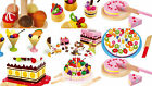 kids fake FOOD pretend play shops tea set icecream tarts cake sweets party NEW