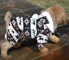 Cute Small Pet Dog Puppy Warm Soft Hoodie Jumpsuit Sweater Coat Clothes Outwear