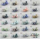Ceramic Porcelain Spacer Big Hole Beads For European Charm Bracelet Jewelry DIY