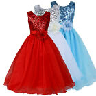 Sequined Flower Girl Kids Princess Pageant Wedding Bridesmaid Party Formal Dress
