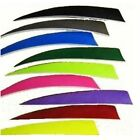 "100 AMG 5"" SHIELD CUT Right Wing Feathers Archery Arrow Fletching CHOOSE COLOR"