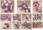 WEDDING FLOWERS WEDDING BOUQUET BRIDES BOUQUET WHITE LILAC IVORY LILAC ROSES