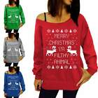 SEXY Fashion Women Christmas Hoodie Sweatshirt Xmas Jumper Sweater Pullover Top