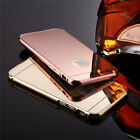 Luxury Aluminum Ultra-thin Mirror Metal Case Cover for iPhone 5 5s/6/6 Plus