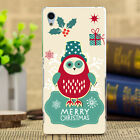 Merry Christmas Painted Pattern Soft Case Cover For Sony Xperia M5 2 4 AQUA T3 2