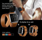 Apple Watch Band Strap HOCO Genuine Leather Single+Double Loop+Bracelet 3 in Set