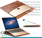 "Leather Sleeve + Smart Cover for MacBook 12"" and Air 13"" with Stand Hibernating"