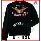 01 Hells Angels Big Red Machine Anniversary Wings  Support81 Sweater (M - 5XL)
