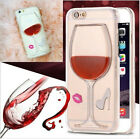 Liquid 3D Wine Glass Cocktail Bottle Hard Phone Case Cover For iPhone 8 Plus 6s