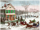 500. Winter Horse Trott Decoration Art POSTER.Graphics to decorate home office.