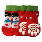 Dog Socks - Snowman Design Winter Dog Socks - Pk 4 - RichPaw - Non Slip S to XL