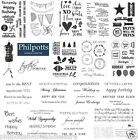 KAISERCRAFT Clear Stamps -Decorative Cling Stamp Sets Craft Cardmaking Scrapbook