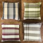 """Set Of 4 x 17""""  Cotton Rich Good Quality Chenille Check Cushions + Covers"""