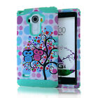 ShockProof Duo Hybrid Hard Cover+Soft Skin Case w/Stand for LG Models