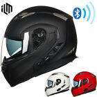 Bluetooth Integrated Modular Full Face Motorcycle Helmet Sun Shield MP3 Intercom