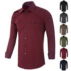 Men's Casual Long Sleeve Casual Formal Shirt - BRAND NEW - SIZE - S,M,L,XL Tops