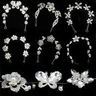 Women Wedding Metal Hairband Head Chain Jewelry Rhinestone Pearl Bridal Headband
