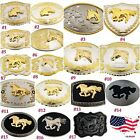 Внешний вид - Horse Head Shoe Large Western Cowboy Rodeo Belt Buckle Men Texas Usa Womens New