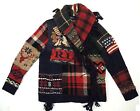 Polo Ralph Lauren Indian Head Chief Flag Patchwork Sweater Cardigan Jacket M XL