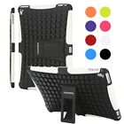 Shockproof Heavy Duty Rubber Stand Case Cover For Apple iPad 2/3 iPad 4 Mini Air