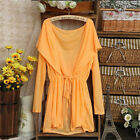 Summer Hooded Batwing Cardigan Tunic UV Against Candy Color Casual Blouse Top
