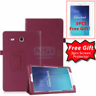 """Folio PU Leather Case Stand Cover For Samsung Galaxy Tab E 9.6"""" 8.0"""" SM-T377 New"""