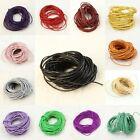 10M 1.5mm Genuine Round Cowhide Real Leather Cord Bracelet Necklace DIY Strings