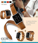 HOCO Genuine Leather Apple Watch Band Single+Double Loop Strap+Bracelet 3 in Set