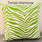 Chartreuse Green and white Zebra Print Throw Pillow Cover Pillow Case