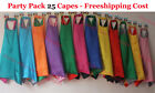 70cm - 25pcs- superhero cape- plain cape, solid kid cape, blank reversible capes