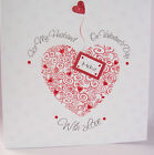 Beautiful Personalised Handmade Valentine's/Anniversary Card  Curly Heart design