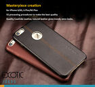 iPhone 6/6S Plus Upscale Genuine Leather Case Skin for men + Tempered Glass Film