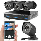 Zmodo 1080p 4CH PoE NVR 4 IP Network IR Outdoor Home Surveillance Camera No HDD