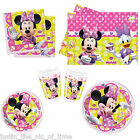 MINNIE MOUSE PINK Girls Birthday Party Tableware Plates Cups Napkins Tablecover