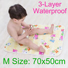 70x50cm Urine Pad Pure Cotton Surface Layer Changing Mat Nappy Cover Change Pad