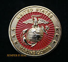 US MARINE CORPS CHALLENGE COIN EGA MARINES VETERAN PIN UP USMC GIFT PIN UP WOW