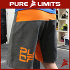 Pure Limits Mens RESOLUTE Series 6 Training Shorts - CrossFit WOD - Grey/Orange