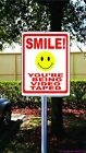 Smile Being Video Taped Sign. w Options. Business Security & Theft Prevention