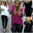 New Women Loose Casual Long Sleeve Sexy Shirt Tops Blouse Ladies Tee Top T-Shirt
