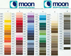 MOON SEWING THREAD . SPUN POLYESTER 1000 YARD REEL - HUGE CHOICE OF COLOURS