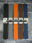 New 24mm 10mm Top Quality Soft PU Rubber Diver Strap band ORIS TT1 F1 Williams
