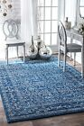 New Bosphorus Medieval Tracery Traditional Contemporary Dark Blue Sale Area Rug