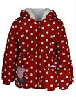 Girls Hooded Coat Peppa Pig Polka Dot Design Jacket With Mittens 2-5 Years New