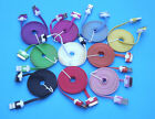 2M 3M Flat USB Noodle Data Sync Charge Cable for iPhone 6 6S 5 5S 5C 4 4S 3G /S